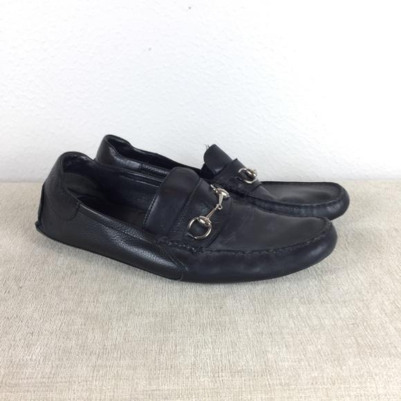 bec6084b Gucci Horsebit Black Leather Driving Loafer 11